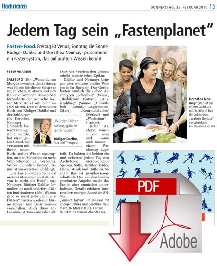 Salzburger Nachrichten - 25/02/2010